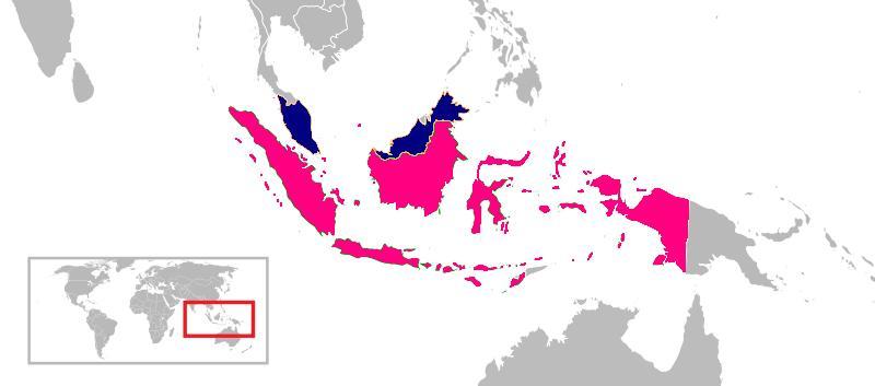 Indonesia and Malaysia